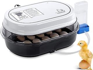 Incubadora Automática, PEDY Incubadora de Pollos con Criador de Motor con Pantalla LED de Temperatura y Sensor de Temperatura Preciso, Control de Temperatura y Humedad, para hasta 18 Huevos de Gallina