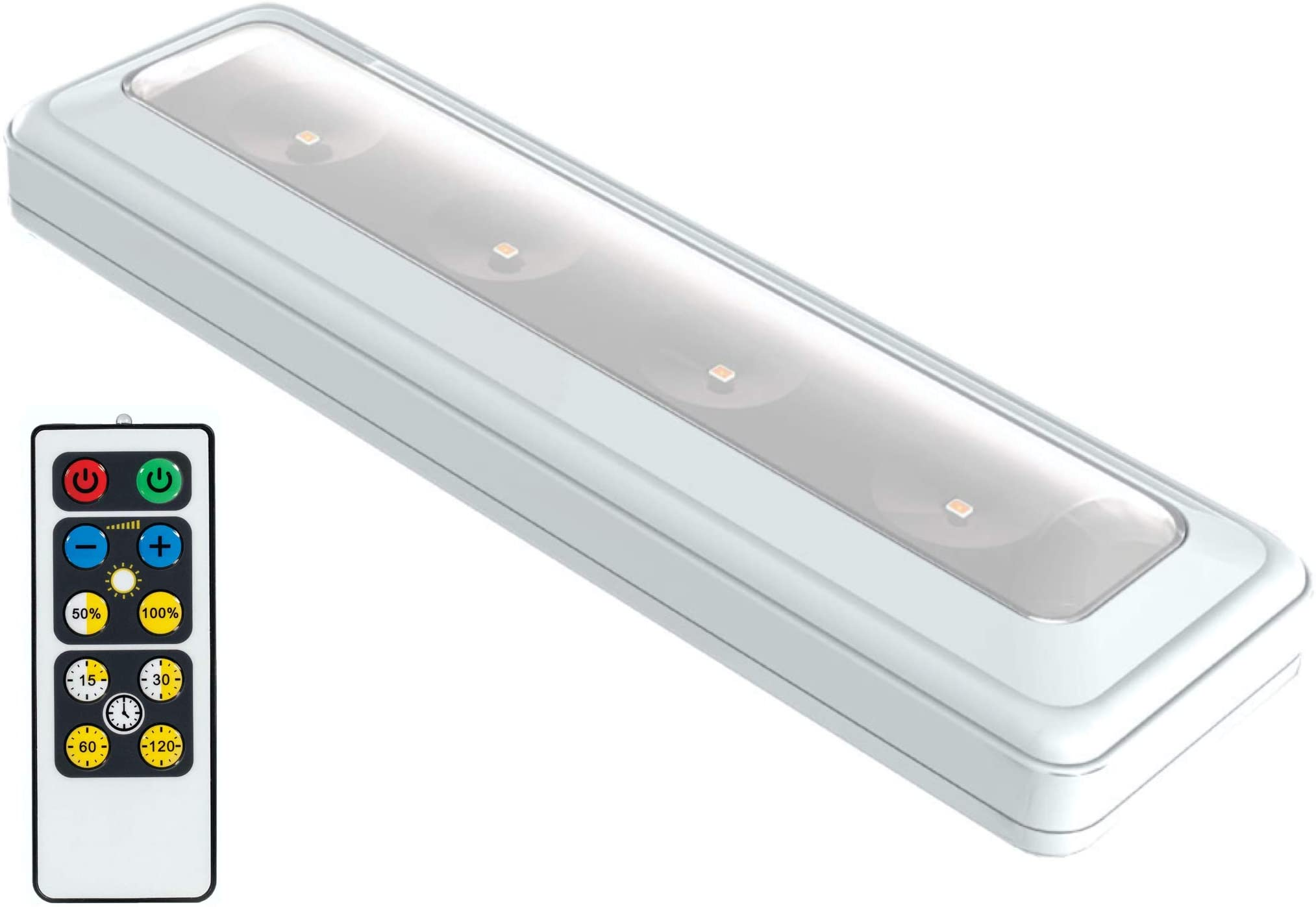 Brilliant Evolution BRRC124IR Wireless LED Light Bar with Remote Control | Battery Operated Lights | Remote Control Lights | LED Lights with Remote | Kitchen Under Cabinet Lighting | Closet Light