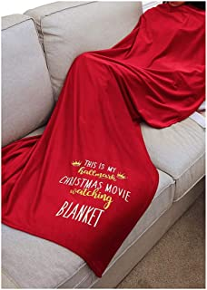 Gowone This is My Hallmark Chiristmas Movie Watching Blanket Home Fleece Blanket Red Throw Blanket for Couch Bed Soft Microfiber Fuzzy Flannel Hallmark Blanket (red, 51x63 Inches)