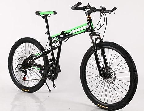 Hycy 26 Pulgadas Plegables Bicicleta De Montaña Doble Frenos De Disco Bicicleta De Montaña Amortiguador De Una Rueda Cambio De Bicicleta,B: Amazon.es: Hogar
