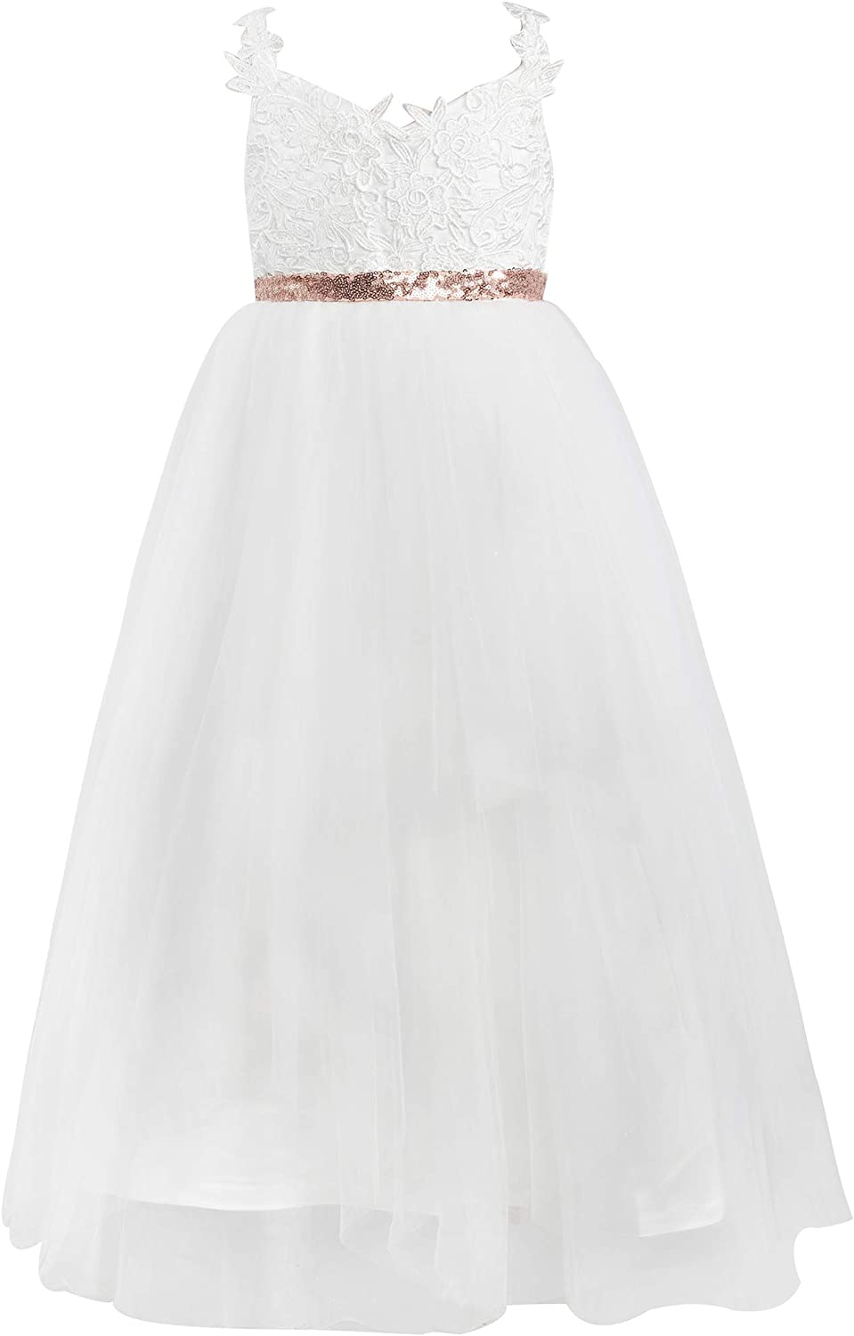 Challenge the lowest price Mrprettys Ivory Lace Tulle Flower Dress Little Weddin Girls Special price for a limited time Girl