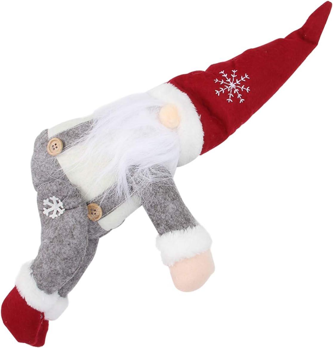 ABOOFAN Abrazadera de cortina de Navidad con hebilla de gnomo, muñeca sueca, escandinava, gancho de sujeción para cortinas, adornos para Navidad, ventana, botella de vino, decoración del hogar