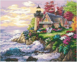 Modern decorations Painting By Numbers DIY seaside dream Landscape Picture Drawing Living Room 40x50cm Unframed