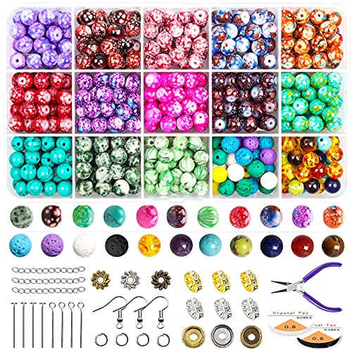 FEEIN Patrón de perlas sueltas Kits para la fabricación de joyas