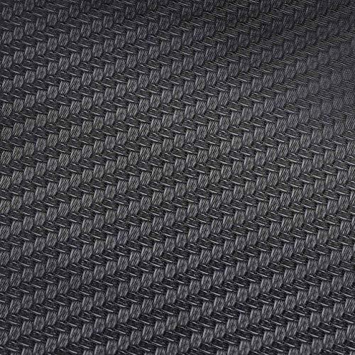 JiuRui DIY Verpackung 127x30cm Car Styling-Zubehör 3D-Carbon-Faser-Vinyl-Auto-Motorrad-Verpackungs-Blatt-Rolle-Film-Aufkleber Folien Aufkleber Wasserdicht (Color Name : Schwarz)