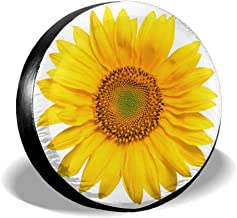 HAINANBOY Tire Covers Sunflower Potable Ployster Dirtproof Spare Tire Wheel Covers Protector for Jeep Trailer RV SUV Truck Camper Travel Trailer Accessories(14,15,16,17 Inch)