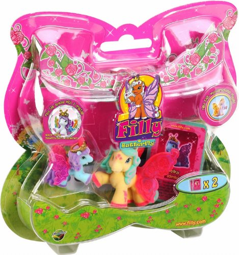 Dracco UT20582 - Filly Butterfly Sammelpferde, Mutter mit Baby