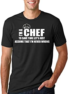 Chef Hombres Camiseta de Regalo para el Cocinero Camiseta Divertida de la Camiseta de Ocupación