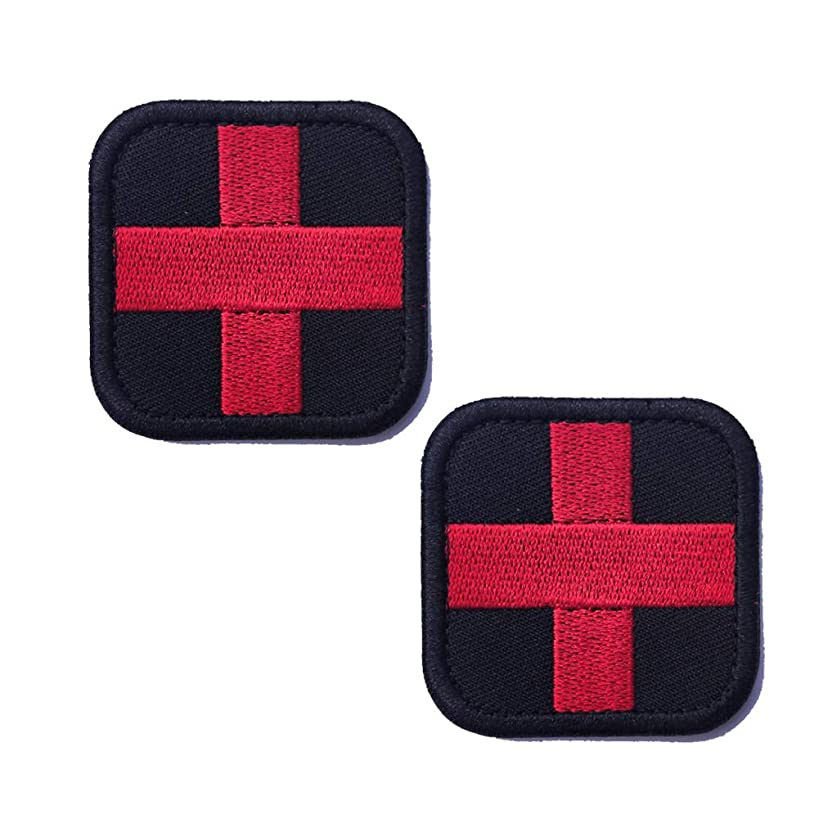 R.SASR 2 Pieces Medic Cross Tactical Patch, Hook-Fastener Backing