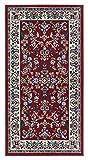 Andiamo - Tappeto Orientale Classico, Modello Persiano, Motivo Ornamentale, Tappeto a Pelo Corto, 60 X 110 Cm, Rosso