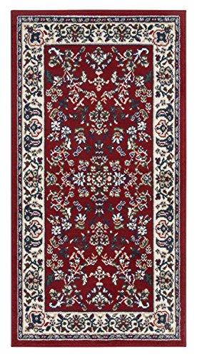 andiamo Klassischer Orientteppich Perserteppich  - Ornamente Muster Webteppich Kurzflorteppich - 60 x 110 cm rot