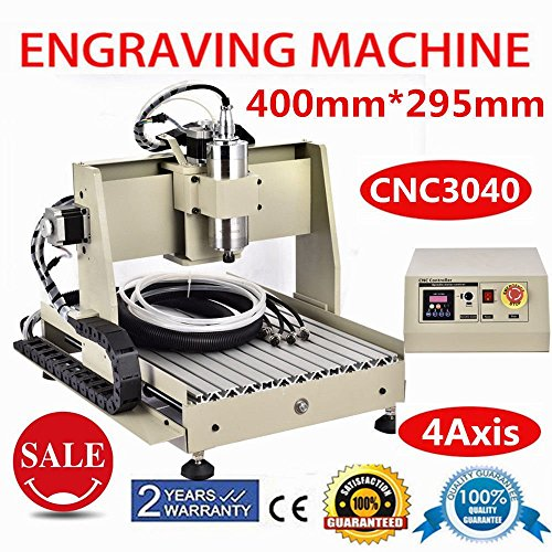 Power Milling Machines, 4 Axis CNC 3040 Router 3D Engraver Engraving...