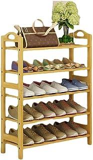 ZXJshyp Multi-Layer Shoe Organiser Shelf Shoe Cabinet, 100% Solid Wood Multifunctional Assemble Flower Rack Bookshelf (Siz...