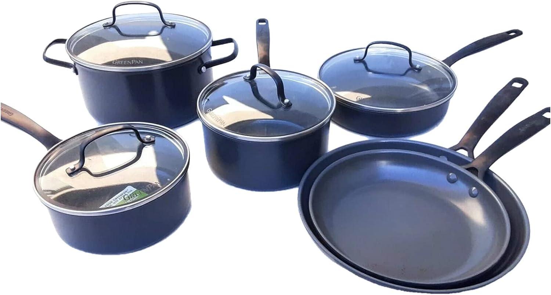 GreenPan New York Pro Ceramic Set outlet service Cookware 11-Piece Nonstick