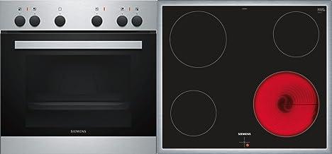 Siemens EQ110KA0BE Cerámico Horno eléctrico sets de electrodoméstico de cocina - Sets de electrodomésticos de cocina (Cerámico, Cerámico, Negro, Giratorio, 58,3 cm, 51,3 cm)