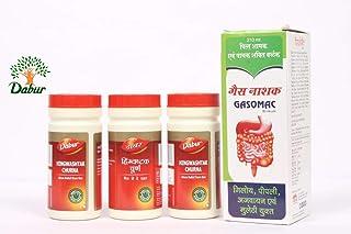 DABUR Hingwashtak Churna 60 g Pack of 3 with Gasomac Syrup 200 ml