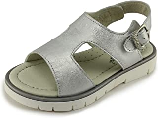 Garvalin Girls Open Toe Leather Sandals 192641 A Plata (Toddler)
