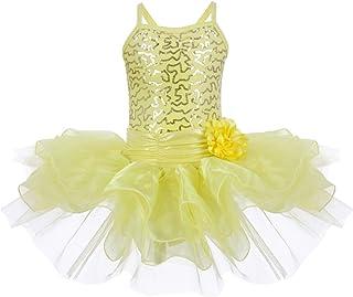 bb90cc6781 Little Girls Toddler Flower Sequins Camisole Ballet Dance Leotard Tutu Skirt  Princess Ballerina Glittering Dancewear Costume