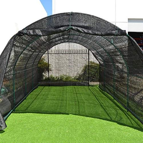 Strong Camel New Hot GreenHouse Large Walk-In BLACK Greenhouse Outdoor Plant Gardening (20'X10'X7')