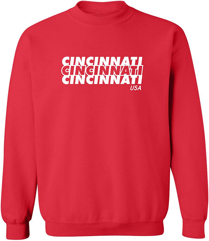 zerogravitee Cincinnati USA Crewneck Sweatshirt