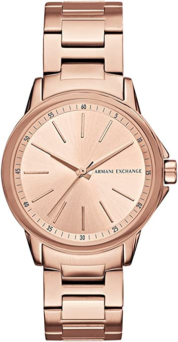 Armani Exchange Women's AX4347 Rose Gold Watch