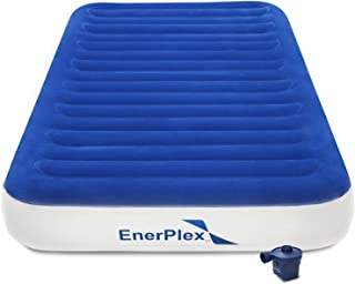 EnerPlex Never-Leak Luxury Twin Air Mattress with High Speed Wireless Rechargeable Pump Single High Inflatable Blow Up Bed for Home Camping Travel 2-Year Warranty
