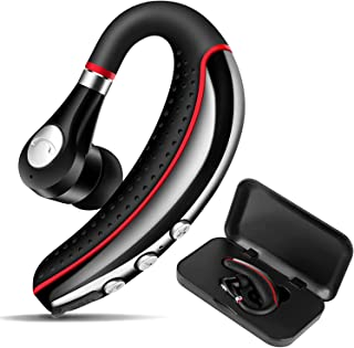 OPINAY Bluetooth Headset, Noise Canceling Best Bluetooth Earpiece V5.0 with Mute Key, Hands Free Ultralight Business Talking Earpiece with IPX8 Waterproof for Laptop/Computer/Driving/Office/Workout