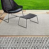 casa pura® Indoor- & Outdoor-Teppich Turin | Bodenbelag für Flur, Küche, Bad, Terrasse, Balkon, Garten | kunstvoll gewebt mit Schimmer Optik | Viele Größen (90x200 cm) - 3