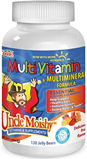 Uncle Moishy Childrens Multi-Vitamin Mineral Jellies with Choline - 120 Jellies