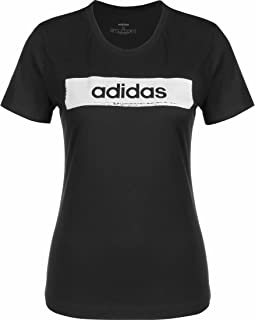 تي شيرت نسائي من Adidas مطبوع عليه W Core BOXED مقاس 2 W