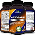 Menopause Relief Pills - Helps Relieve Hot Flashes + Night Sweats + Mood Swings - Natural Menopause Support - Can Restore Hormone Balance - Contains Sage + Black Cohosh + Red Clover - Biogreen Labs