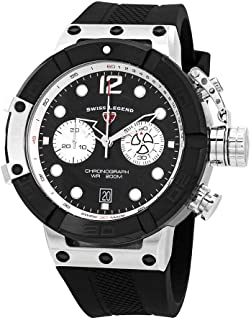 Swiss Legend Triton Chronograph Black Dial Watch SL-10719SM-01-BB