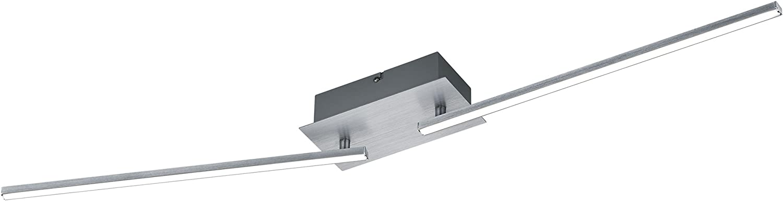 Trio Leuchten LED-Deckenleuchte Highway, aluminium Gebürstet, acryl wei, 871810205