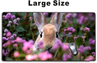 Mousepp - Large Gaming Mouse Pad,Extended Mousepad with Non-Slip Rubber Base for Laptop Computer Desktop Keyboard,Stitched Edges Mat - rabbit farm