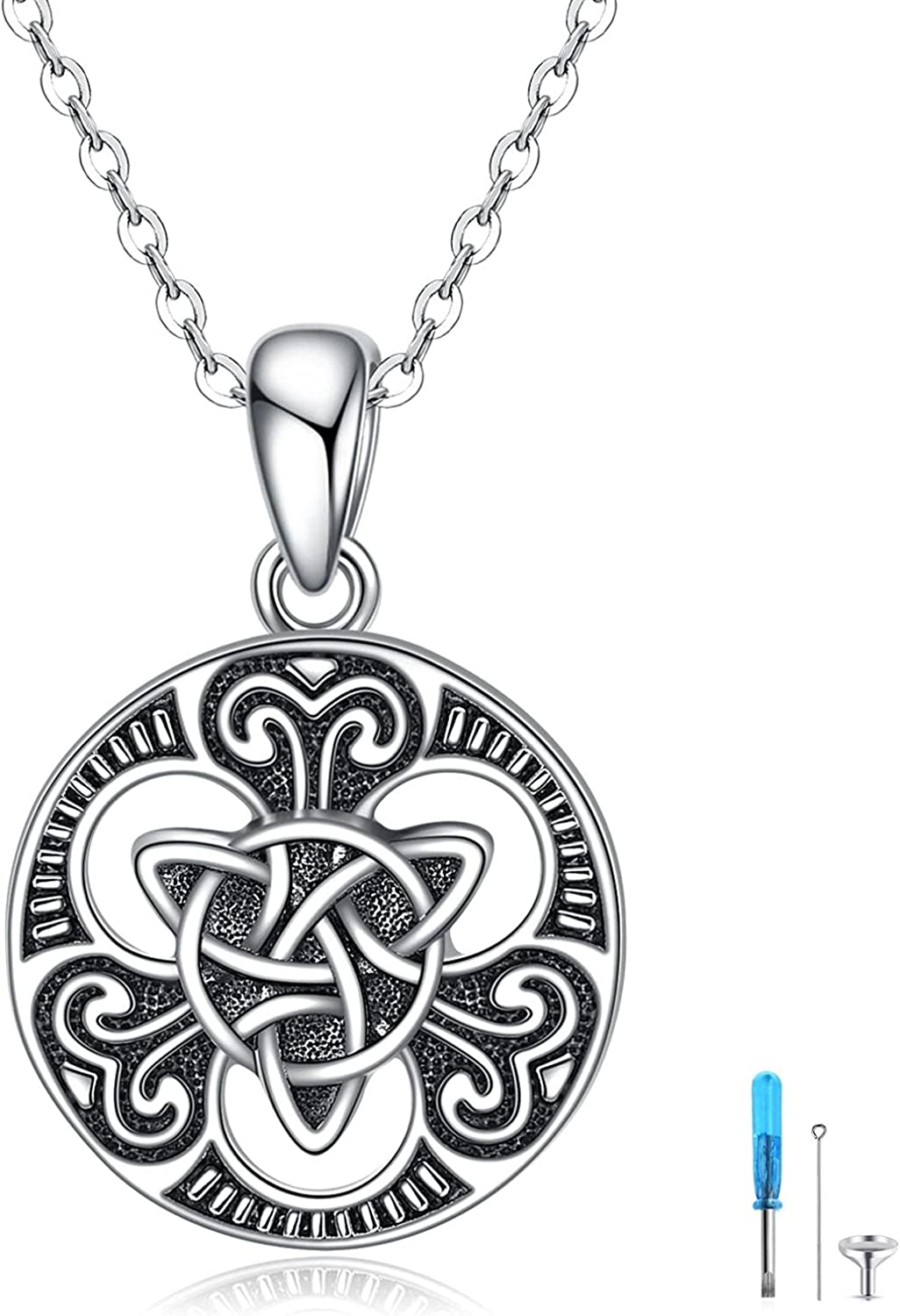 YAFEINI Viking Outlet sale feature Compass Celtic Knot trust Necklace Ashes Sterli for Urn