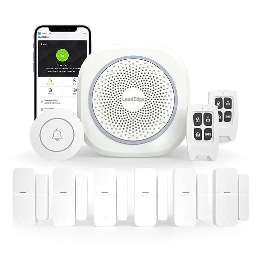 91 opinioni per LeadEdge AS100 Smart Allarme Casa Senza Fili, Promemoria App push, Kit allarme