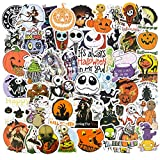 Halloween Stickers for Laptop, 50PCS Halloween Tim Burton Theme Waterproof Vinyl Stickers for Skateboard Computer Bumper Water Bottle Stickers for Nightmare Before Christmas