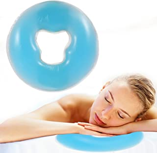 Silicona almohada masajeador cuidado de la piel de belleza superposición suave cara relajarse cuna cojín(azul)