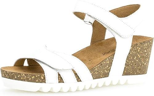 Gabor 23.661 Femme,Sandales compensées,Chaussures d'été,Confortable,Plat