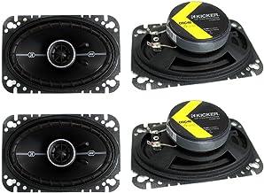 """4) Kicker 41DSC464 D-Series 4×6"""" 240 Watt 2-Way 4-Ohm Car Audio Coaxial Speakers"""
