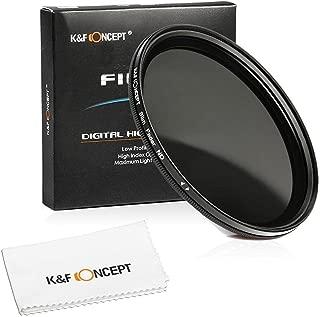 K&F Concept 49mm 超薄型可変式NDフィルター 減光範囲ND2~ND400  Sony A3000 NEX-5 NEX-7デジタル一眼レフカメラ専用+超極細繊維布ホワイト