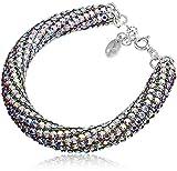 Nouveaux Cristaux Swarovski Large bracelet * Aurora Cristall