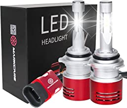 Markcars 8400LM Super Bright Cool White 6000K 60W 9006(HB4) LED Car Headlight Bulbs All-in-One Conversion Kit Low Beam Head Light Bulbs Seoul Chips Car Driving Lamps Replacement 2 Year Warranty