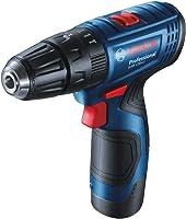 Bosch GSR 120 Li Professional Cordless Drill Driver, 2 x 12V 2.0Ah (Double Battery), GAL 1210 CV Professional Charger +...