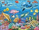 Larsen FH29 La Vida Marina en un Arrecife de Coral, Puzzle de Marco con 35 Piezas