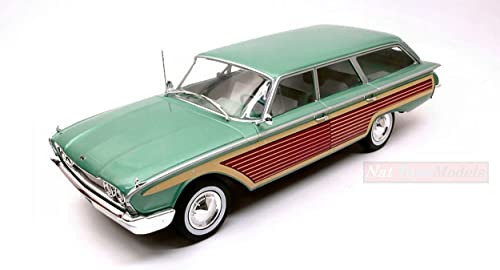 MODELCARGROUP MCG18047 FORD COUNTRY SQUIRE METALLIC Grün WOOD 1 18 DIE CAST