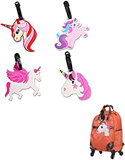 Unicorn Luggage Tags - Perfect for Kids Women Girls Travel Baggage Tags - Identifier Baggage ID Labels
