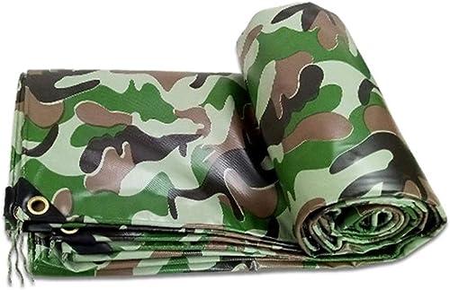 Gxmyb Bache Baches Extra Larges, bache imperméable avec Oeillets, Housse de Prougeection extérieure Domestique - 450g   m2, Camouflage (Taille   5mx6m)