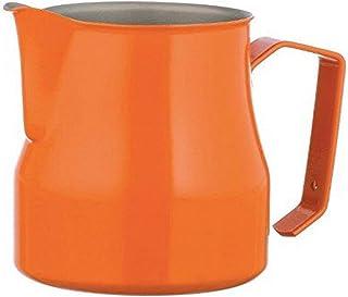 Motta Stainless Steel Professional Milk Pitcher, 17 fl. oz, Orange