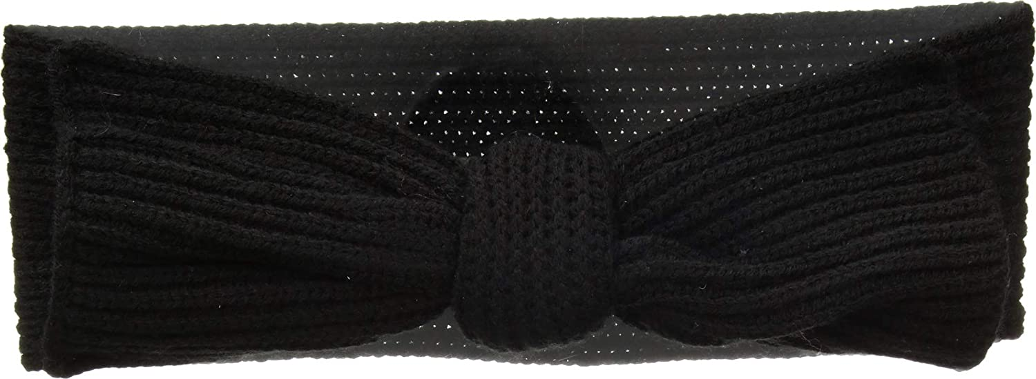 Kate Spade New York Solid Bow Headband Black One Size